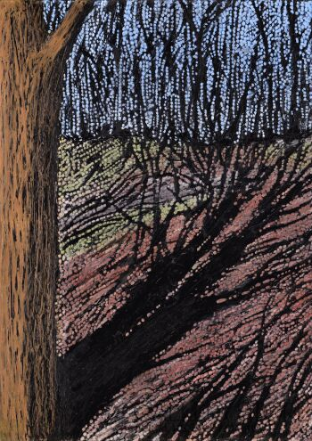 Angelika Mus-Nowak-Brakiem słońca położone drzewo-Rysunek
