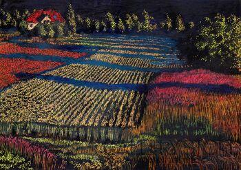 Angelika Mus-Nowak-Kolorowe łąki-Rysunek