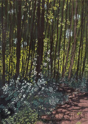 Angelika Mus-Nowak-Leśne postacie słońca-Rysunek