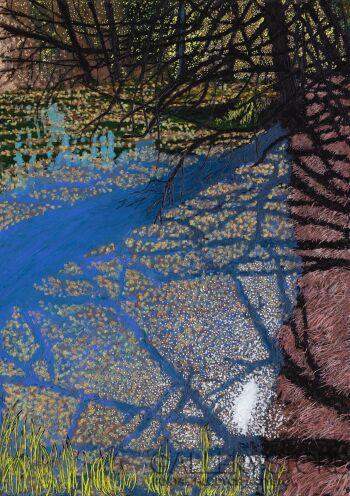 Angelika Mus-Nowak-Niebieskie cienie na jeziorze-Rysunek