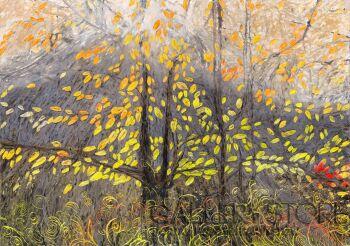 Angelika Mus-Nowak-Odrzucone liście rozjaśniają mgłę-Rysunek