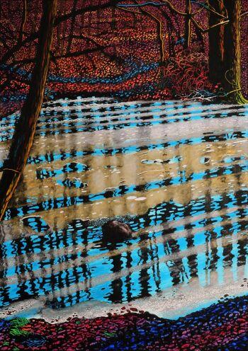 Angelika Mus-Nowak-Pod powierzchnią lodu drżące drzewa-Rysunek