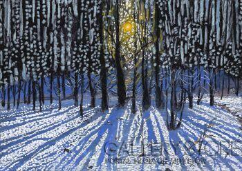 Angelika Mus-Nowak-Śnieżne słońca przybliżenie-Rysunek