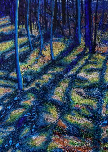 Angelika Mus-Nowak-Tym szerszym cieniem je drzewo obejmie, im dalej się od niego oddalą-Rysunek