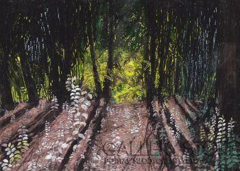 Angelika Mus-Nowak-Ukryte w lesie światło-Rysunek