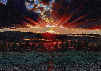 Angelika Mus-Nowak-Za chmurami-Rysunek