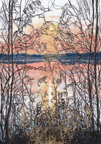 Angelika Mus-Nowak-Złoty zachód słońca-Rysunek