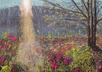 Angelika Mus-Nowak-Zrzucające liście światło-Rysunek