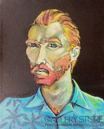Ania Kozłowska-Van Gogh in Cuba-Akryl
