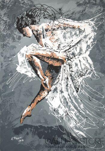 Ania Stępień-Biała Dama-Akryl