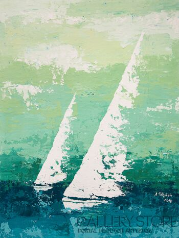 Ania Stępień-Morskie duchy-Akryl