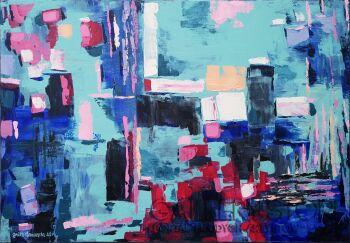 Anita Domeracka-Abstrakcja z portem-Akryl
