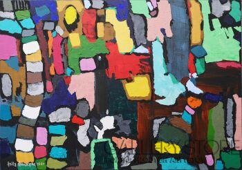 Anita Domeracka-Nie tylko z wężykiem abstrakcja-Akryl