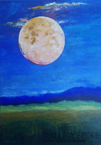 Anita Domeracka-Niebieskie sny-Olej