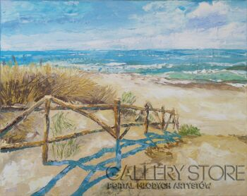 Anita Domeracka-Wejście na plażę-Olej