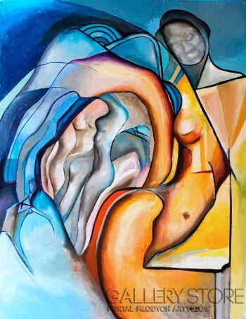 Anna Lupa-Suchy-Geometria ciała-Olej
