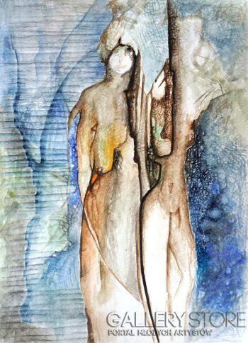 Anna Lupa-Suchy-Spotkanie z blue-Akwarela