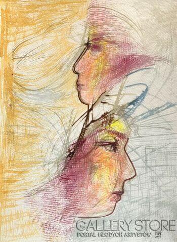 Anna Lupa-Suchy-Wiatr we włosach-Akwarela