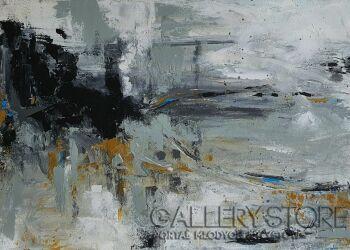 Anna Magier-Abstrakcja 2 z cyklu Głazowiska-Akryl