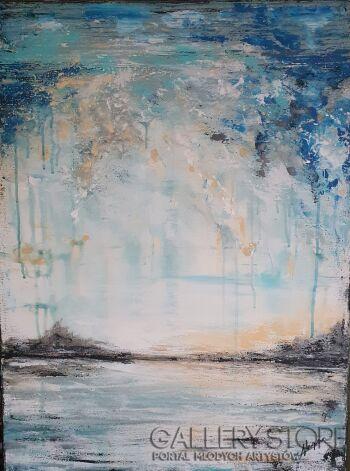 Anna Magier-Abstrakcje nieba. Drugi.-Akryl