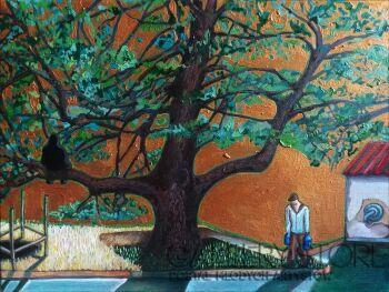 Anna  Marciniak - Tomala-Najstarszy człowiek pod najstarszym drzewem w mieście-Olej