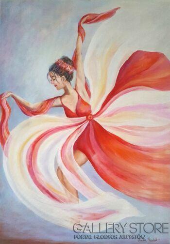 "Anna Pawlak-""Baletnica' (2)-Akryl"
