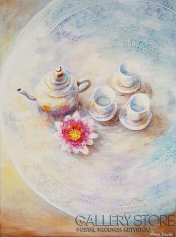 "Anna Pawlak-""Filiżanka herbaty""-Akryl"