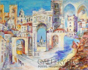 "Anna Pawlak-""Kolory Lizbony""-Akryl"
