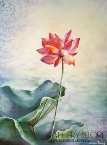 """Anna Pawlak-""""Kwiat Lotosu""""-Akryl"""