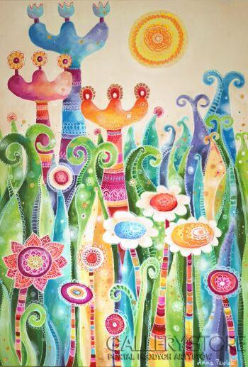 """Anna Pawlak-""""Magiczna łąka""""-Akryl"""