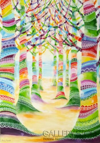"""Anna Pawlak-""""Magiczna plaża""""-Akryl"""