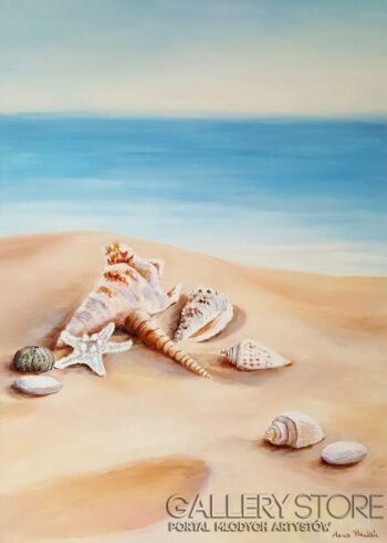 "Anna Pawlak-""Na plaży""-Akryl"