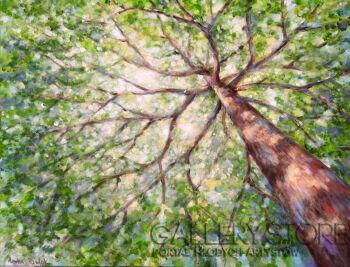 """Anna Pawlak-""""Pod drzewem""""-Akryl"""