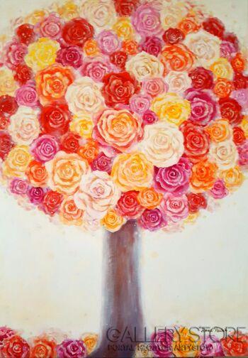 "Anna Pawlak-""Różane drzewo""-Akryl"