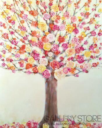 """Anna Pawlak-""""W różanym ogrodzie""""-Akryl"""