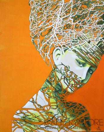 Anna Rączka-Bez tytułu-Akryl