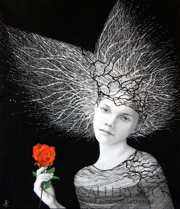 Anna Rączka-Little Prince-Olej