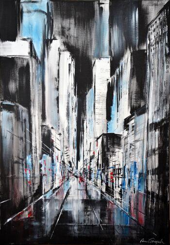 Anna Trzupek-Black street-Akryl