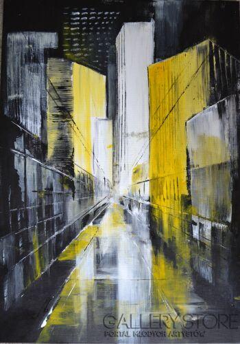 Anna Trzupek-Cienie miasta-Akryl