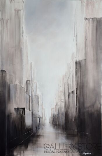 Anna Trzupek-Sepia street-Akryl