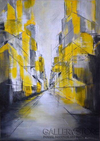 Anna Trzupek-Yellow street-Akryl