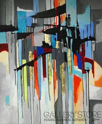 Barbara Soborak-Abstrakcja-Akryl