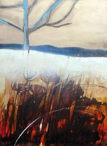 Barbara Zabłocka-niebieskie drzewo-Akryl