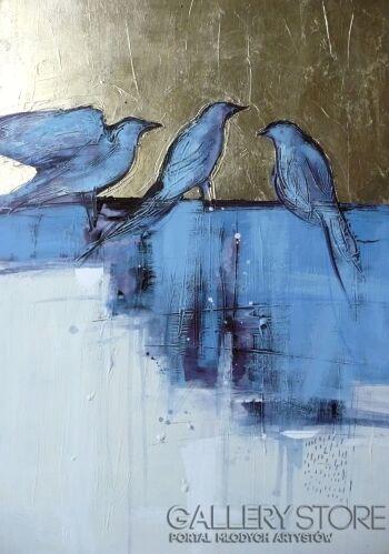 Barbara Zabłocka-ptaki 7-Akryl