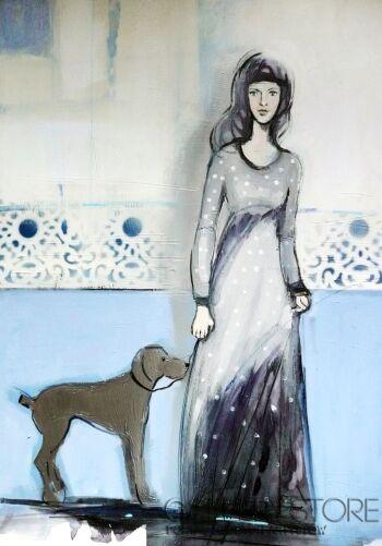 Barbara Zabłocka-srebrny pies 2-Akryl