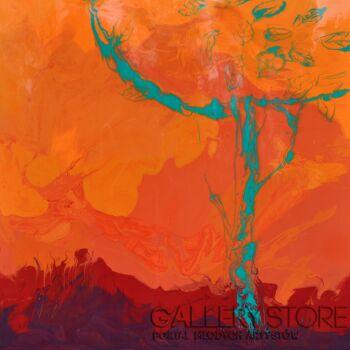 Beata van Wijngaarden-COOL TREE HOT SUMMER abstract 100x100-Inna
