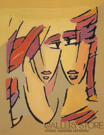 Bohdan Wincenty Łoboda-Kobieta i mężczyzna-Grafika