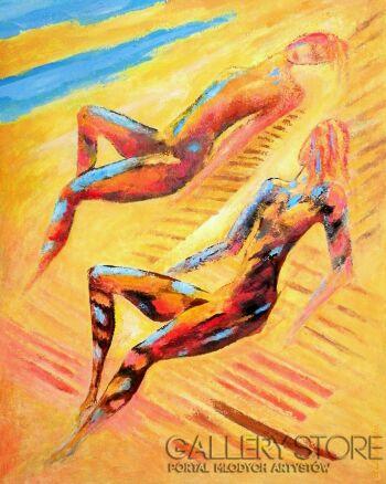 Bohdan Wincenty Łoboda-W pełnym słońcu-Akryl