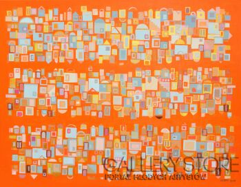 Cezary Walczak-Jerusalem in orange-Akryl