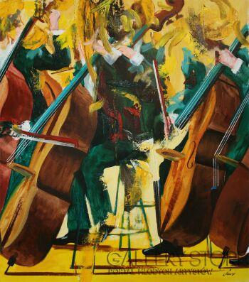 Cyprian Nocoń-Złoty kwartet-Olej